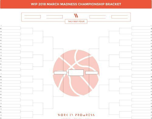 Work in Progress March Madness Bracket 2018